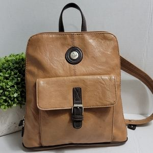 Mouflon Canada Leather Backpack Purse Bag